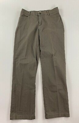 LEE - Relaxed Straight Leg Chino Pants, Beige - Womens Size 12 Long / 34x32