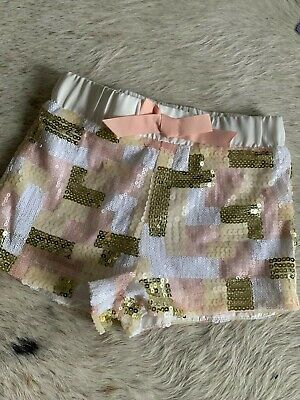 New Frenchie Mini Couture Girls Sequin Shorts Size 6