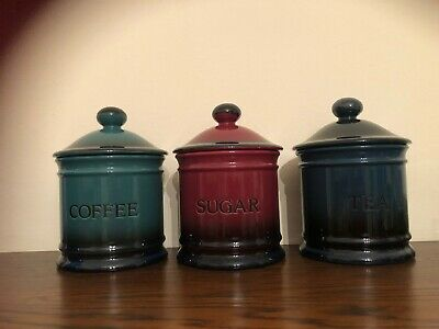 Hornsea Pottery Rhapsody RARE Ceramic Tea coffee Sugar Storage Jar Caddy Kitchen