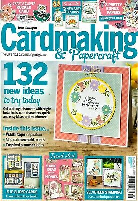 Cardmaking & Papercraft  Magazine Issue 198. 2019.  Free Summer Meadows Stamps