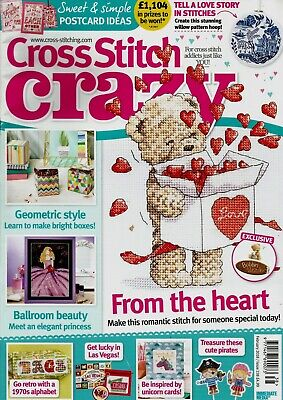 CROSS STITCH CRAZY MAGAZINE ISSUE 238.   2018.  FREE GIFT (see details)