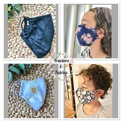 Protective Face mask with Filter POCKET fits the chin Kids Teenagers Woman Men