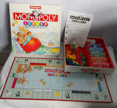 Waddingtons Junior Monopoly Board Game - Complete