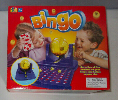 New Bingo Lotto Classic Traditional Kids/Family Game rotating drum