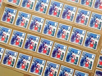 50 X 2Nd Class Unfranked Stamps Self Adhesive Easy Peel F/V £32.50