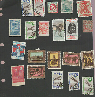 Cinderella Lot some interesting issues 21 stamps/labels