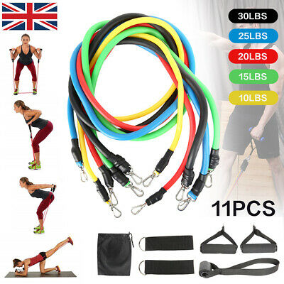 Resistance Bands Workout Exercise Yoga 6/11 Piece Set Crossfit Fitness Tubes