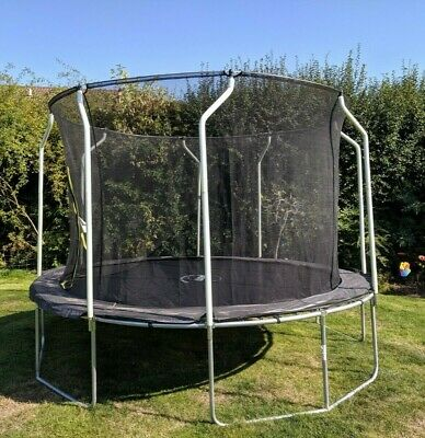 Plum® Wave Outdoor Trampoline with Safety Net Enclosure (12 foot/7m)