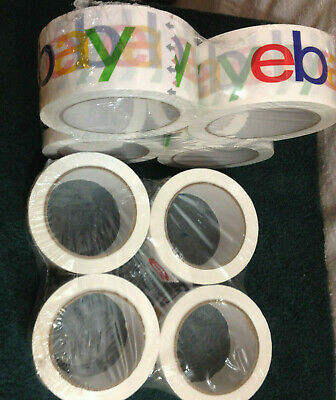 "LOT OF 8   2"" x 75 yards Classic Official eBay Branded Packaging Tape Multi-Pack"