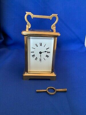 brass 8 day carriage clock