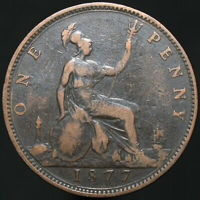 1877 | Victoria One Penny | Bronze | Coins | KM Coins