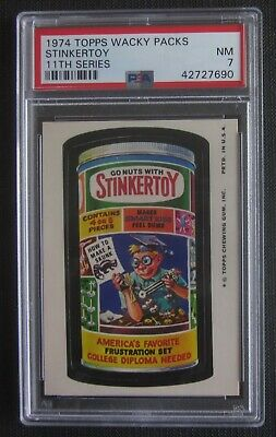 1974 Topps Wacky Packages Stinker Toy 11th Series 11 PSA 7 NM