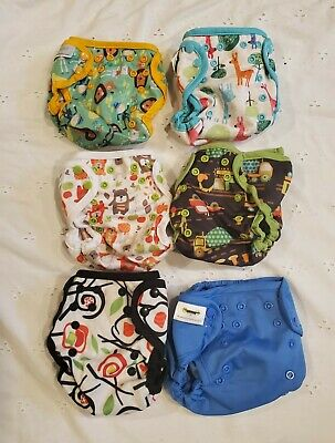 Blueberry Capri Diaper Cover size 1-lot of 6 gently used
