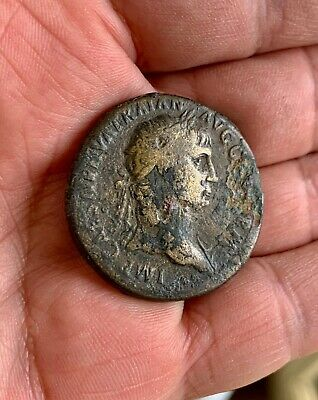 Roman period SESTERTIUS AE to be identified. A nice large attractive coin!