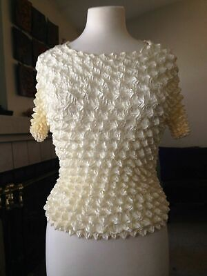 Expandable Women/'s Popcorn Short Sleeves Blouses NEW One Size Ombre Style