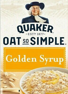 Quaker Oats So Simple Golden Syrup Porridge 17 Sachets - 36g Individual Packets