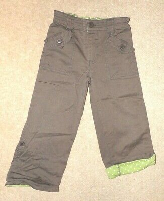 Girl's MUDDY PUDDLES trousers age 3-4 - roll-up legs/ shorts