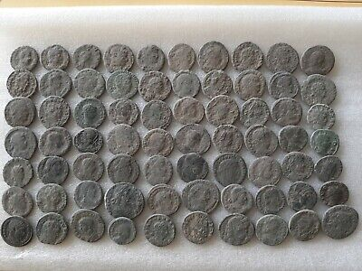 Beautiful Lot Of 70 Ancient Roman Bronze  Coins  For Cleaning  Top Quality !!!!