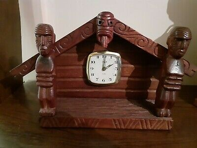 Vintage Black  Forest Mantel Clock