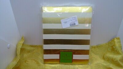 Kate Spade New York Gold Stripe Spiral Notebook NWT Sealed in Wrapper