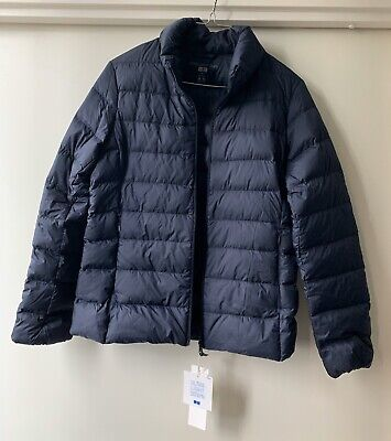 """New! Uniqlo """"Women's Ultra Light Down Jacket Navy S/M"""" Packable in a storage bag"""
