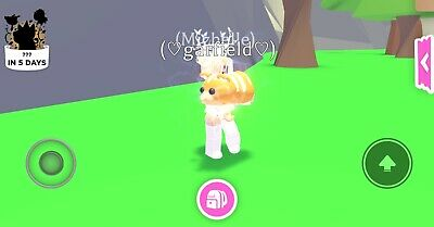Roblox-Adopt Me-Neon Ginger Cat (Fly+Ride)-Good Price-New Pet