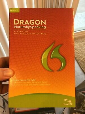 Nuance Dragon Naturally Speaking Speech Recognition Software Home Edition Ver 12
