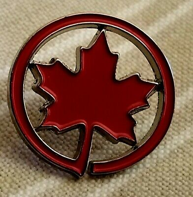 Air Canada Airlines Airways Maple  Leaf Logo Pin Badge