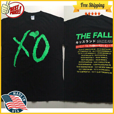 """FREESHIP The Weeknd KISS LAND 2013 """"The Fall"""" TOUR exclusive T shirt Unisex Tee"""