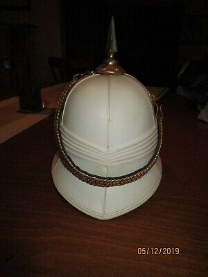 Aust Military Spiked White Pith Helmet 1984 Joseph Dahdah, Used In Great Conditn