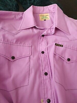 Vintage 1970s Rocky Moonglow WESTERN  shirt. Size 16½ (42/L) as is.