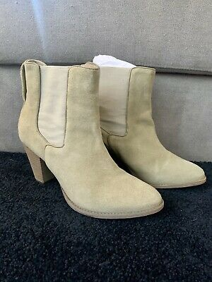 Zimmermann Beige Suede Leather Boots Size 41 - Made In Brazil