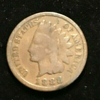 1888 USA COIN Indian Head American 1 One Cent Coin