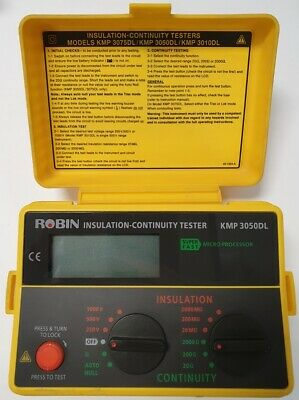 ROBIN KMP 3050DL Insulation-Continuity Tester