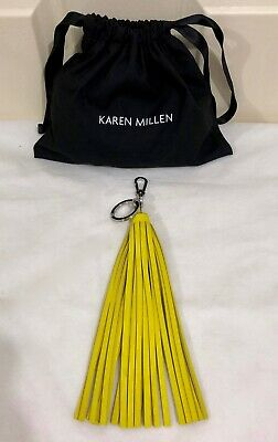 ❤️ New Karen Millen Large Leather Handbag Tassel Keyring Plus Dust Bag Rrp $65