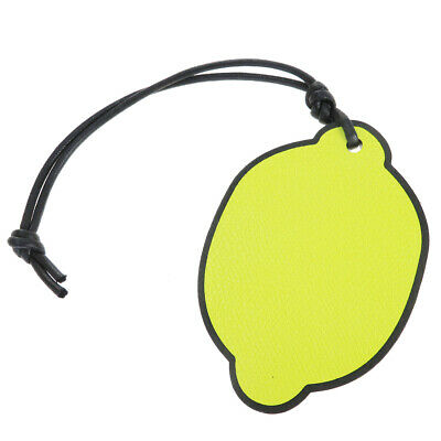 Auth Valextra Lemon Keyring (Yellow) 06GC193