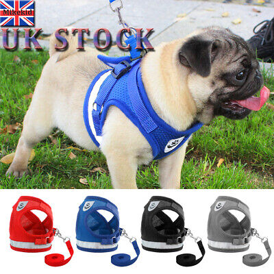 Pet Puppy Small Dogs Cats Harness and Walking Leads Set Pet Breathable Mesh Vest
