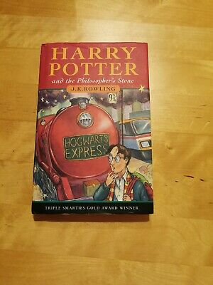 Harry Potter and the Philosopher's Stone von Rowling mit Unterschrift