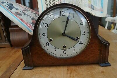 SMITHS Westminster chime mantel clock. SEE VIDEO