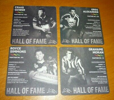 Collectable beer coasters - Set of 4 Tooheys New '' Penrith Panthers'' coasters