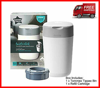 Nappy Disposal Bin Tommee Tippee Sangenic Diaper Tec Bins Twist And Click White