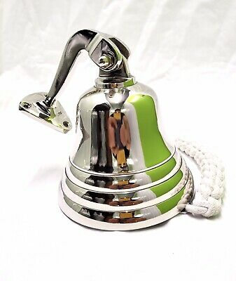 """5"""" Last Orders Wall Mounted Chrome Silver Door Bell Ships Bell"""