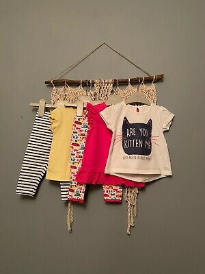 Mixed Brand Bundle! Next / Boots 6-9 Months Leggings And Tops.