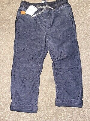 Next Boys Blue Pull On Trousers Age 1 1/2-2 Years BNWT