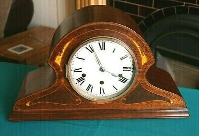 A Lovely Antique Haller Neapolitan Mantel Clock, Westminster Chime, Works Fine