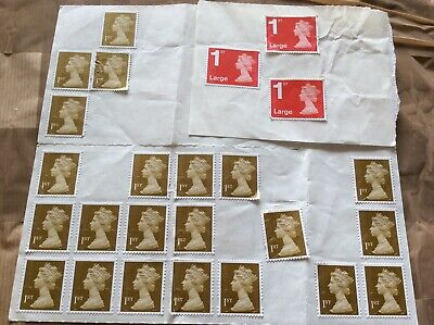 SELF ADHESIVE 22 x 1st Class Stamps  Royal Mail UK + 3 1st Class Large Letter.