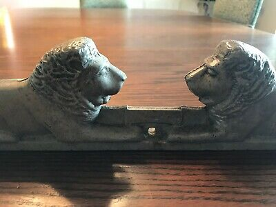 Vintage Lion Cast Aluminum Allied Chain Link Fence Topper Galvanized
