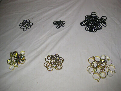 LARGE LOT of VICTORIAN ANTIQUE + MISC. CURTAIN RINGS SHABBY CHIC Over 125 Pieces