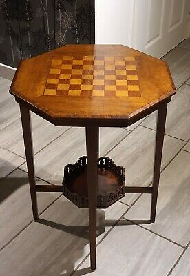 Antique Early 20th Century Walnut Games Chess Table