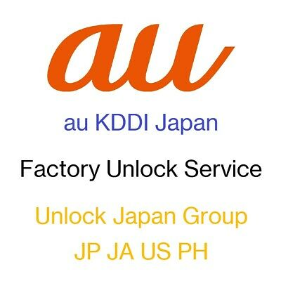 Factory Unlock Fast Service for au KDDI Japan iPhone and iPad